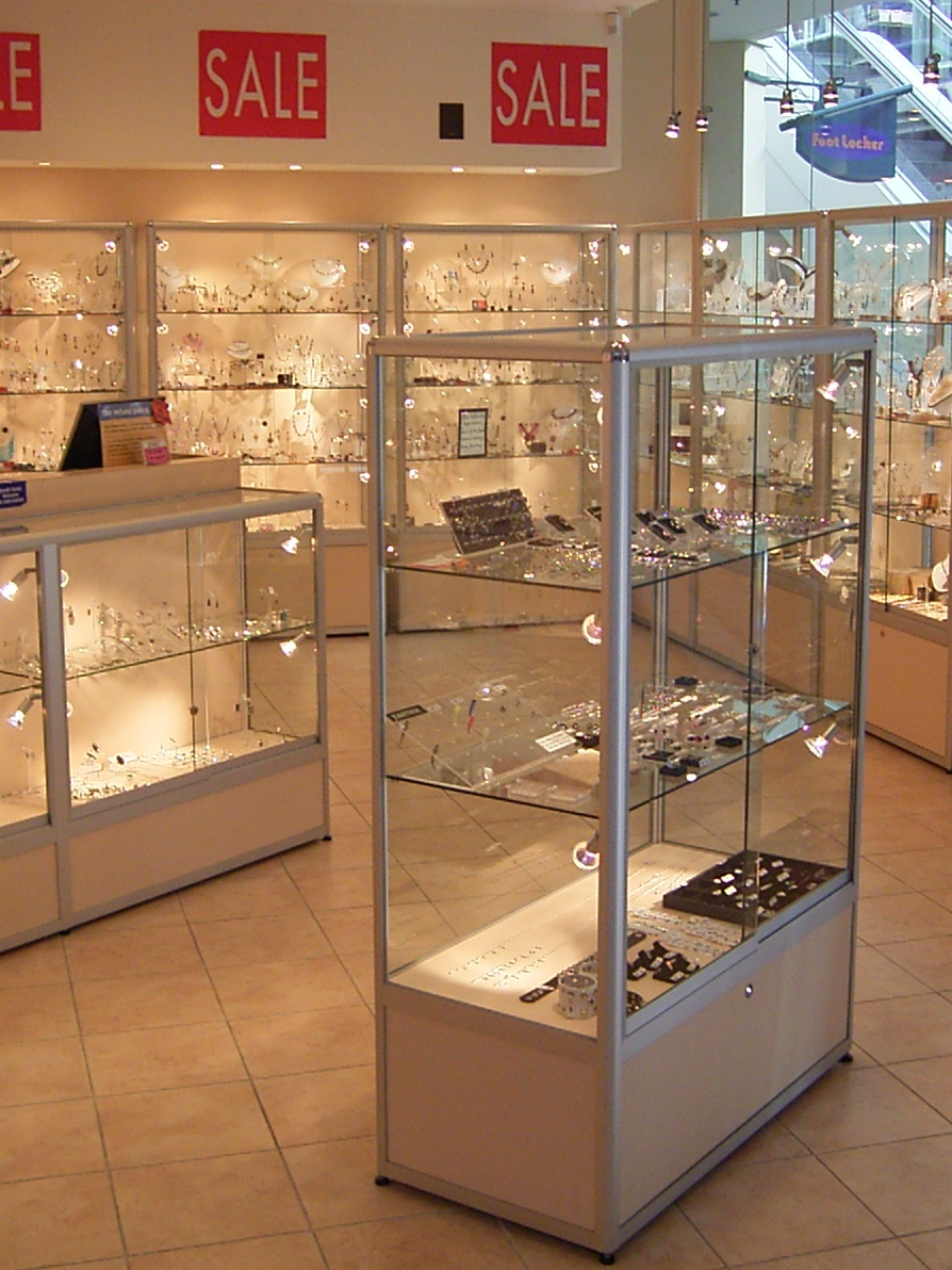 Exhibition Display Cabinets : Custom jewellery showcases